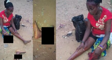 PHOTOS: TRAIN CUTS OFF WOMAN'S LEG AT URRATA, ABA, ABIA STATE